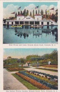 New Jersey Newark Boat House And Lake Branch Brook Park The Italian Flower Ga...