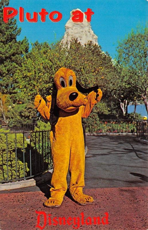 Pluto At Disneyland 1950-60s Chrome Postcard Anaheim California Where is Mickey?