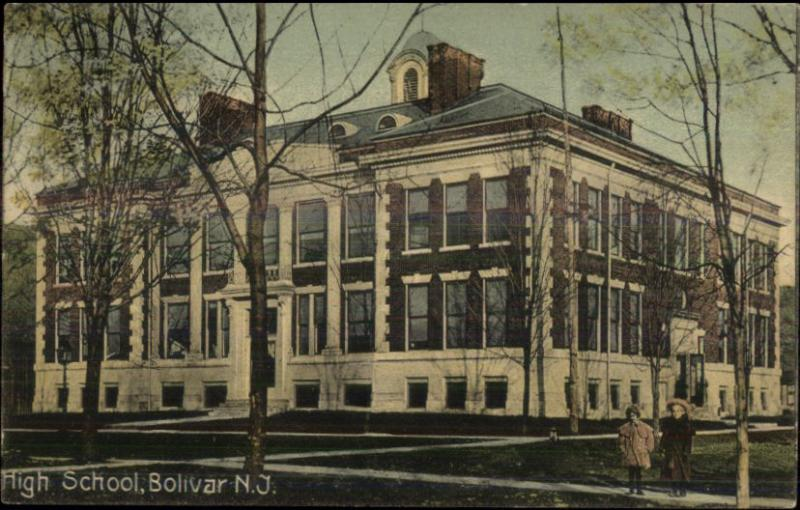 Bolivar NJ High School c1910 Postcard