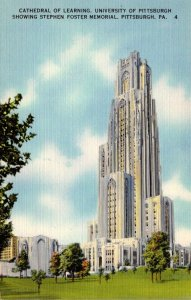 Pennsylvania Pittsburgh Cathedral Of Learning and Foster Memorial University ...