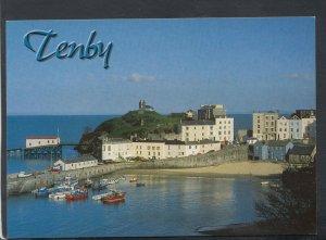 Wales Postcard - View of Tenby, Pembrokeshire   T9370