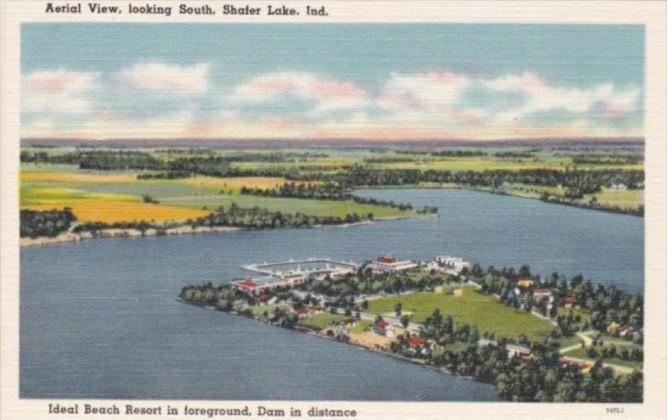 Indiana Shafer Lake Aerial View Looking South