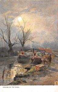 Evening on the Canal Oilette boats bateaux
