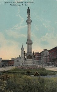 WATERTOWN , New York , PU-1914 ; Soldiers' and Sailors' Monument