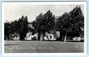 TURLOCK, California CA ~ LOWELL GRAMMAR SCHOOL  Stanislaus County 1910s Postcard