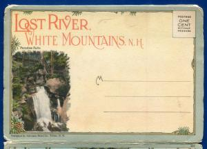 Lost River White Mountains Franconia Old Man New Hampshire postcard folder #13