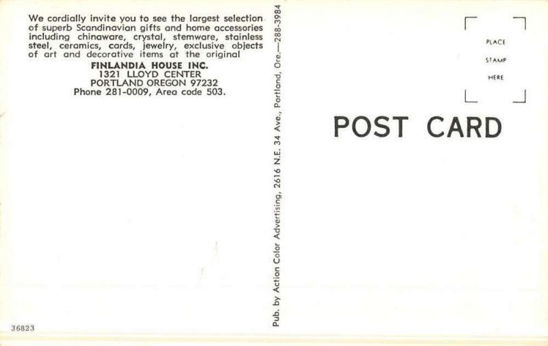 Portland Oregon Finlandia House Street View Vintage Postcard K50490