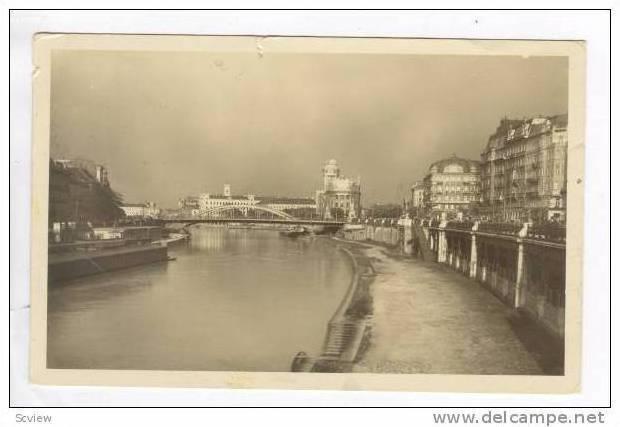 Wien, Donaukanal mit Urania, PU-1934