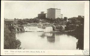 Sioux Falls, S.D., View of Falls and Mill (1907)
