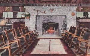 The Fireplace, Ye Alpine Tavern, Mt. Lowe, California,  PU_1912