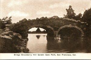 California San Francisco Golden Gate Park Strawberry Hill Bridge