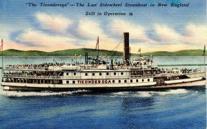 The Ticonderoga Sidewheel Steamboat