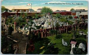 San Diego, California Postcard Private Japanese Tea Garden 1915 SD Cancel