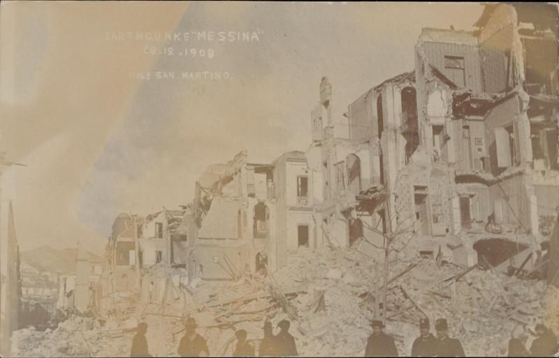 Messina terremoto earthquake Italy 1908 Viale San Martino