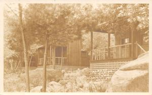 Oakland ME A Splendid Tonic: Sleeping Cabins~RPPC 1924 Fenninger, Esquire~Philly