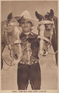 Tony Tom Mix & Tony Junior Antique Photo Postcard