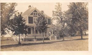Dunlap Iowa~Nice Victorian Home in Country~MDJ Wishes Merry Xmas~1911 RPPC
