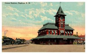 7173  NH Nashua  Union Station with Trains