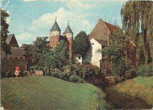 Postcard Netherlands Maastricht Helpoort ancient towngate & Pesthuis paper mill