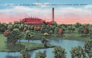 View Of Lake And Grounds Around Still Hildreth Osteopathic Sanatorium Macon M...