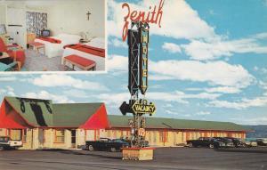 STE. ANNE DE BEAUPRE, Quebec, Canada, PU-1976; Zenith Motel, Classic Cars