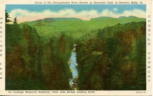 VT - Chester. Dewey's Mills, Queechee Gulf