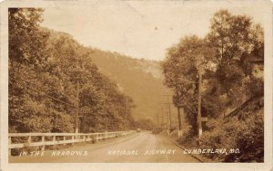 LPS41 CUMBERLAND Maryland The Narrows National Highway RPPC Postcard