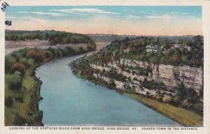 Looking Up The Kentucky River From High Bridge, High Bridge, Kentucky, 1910-1...
