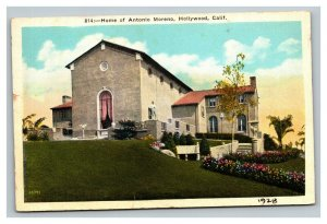 Vintage 1910's Postcard Home of Antonio Moreno Hollywood California