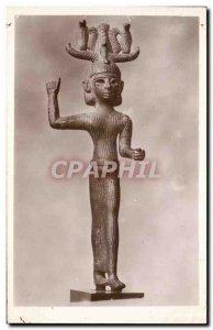 Old Postcard Paris Louvre Bronze Egyptian-style Phoenician from Fagra