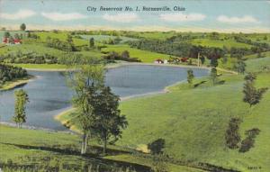 Ohio Barnesville City reservoir No 1 1954 Curteich