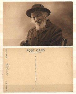 JUDAICA PALESTINE POSTCARD 1921 AN ORTHODOX JEW OF JERUSALEM