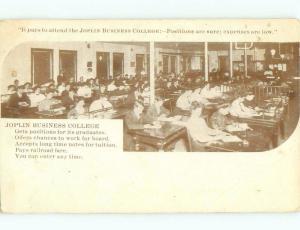 1910 suffrage WOMEN SHOWN AT JOPLIN BUSINESS COLLEGE Joplin Missouri MO E2014