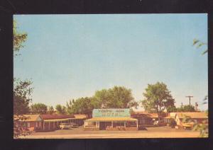 WINSLOW ARIZONA TONTO RIM MOTEL 1960's CARS VINTAGE ADVERTISING POSTCARD