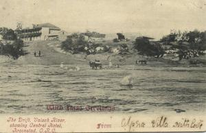south africa, KROONSTAD, O.R.C., Valsch River showing Central Hotel (1906)