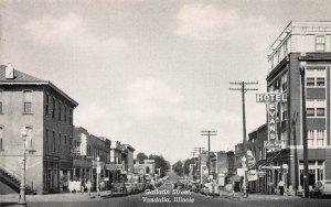 Gallatin Street, Vandalia, Illinois, Early Postcard, Unused