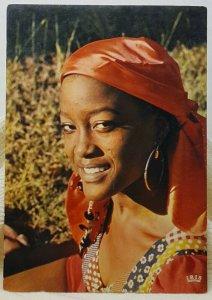 Charming Smile Female Haiti Vintage Postcard