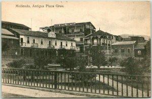 Vintage MOLLENDO, Arequipa PERU Postcard Antigua Plaza Grau c1910s Unused