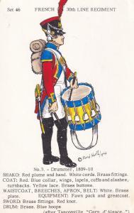 1809 Drummer French 30th Line Regiment Napoleonic War Uniform Soldier Postcard