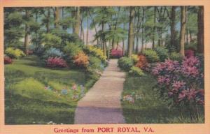 Virginia Greetings From Port Royal
