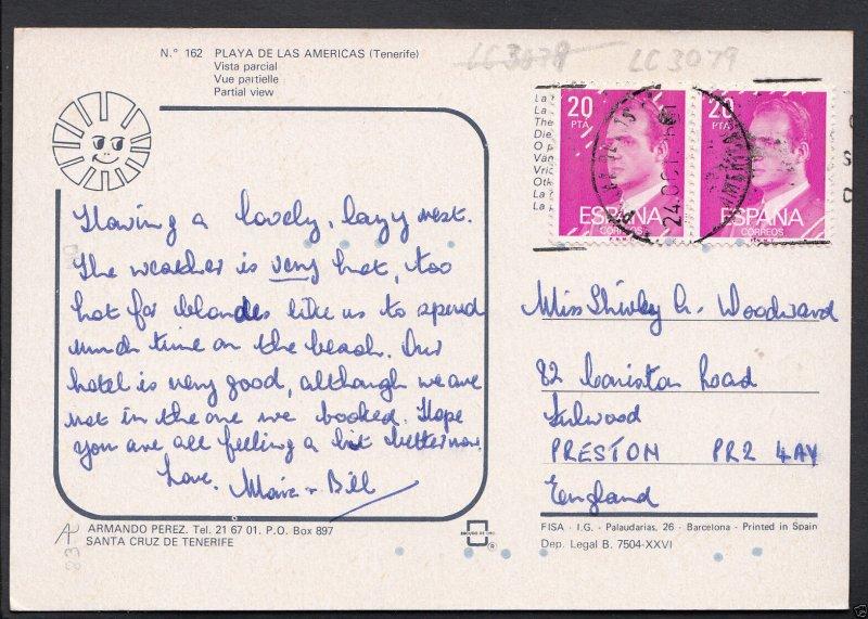 Spain Postcard - Tenerife - Playa De Las Americas - Vista Parcial    LC3079