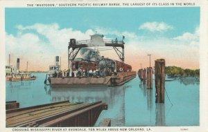 NEW ORLEANS, Louisiana, 1900-1910's; MASTODON Train Ferry