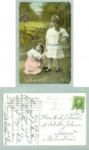 Sweden.1910. 2 Girls In Sunday Dress. Postal Used