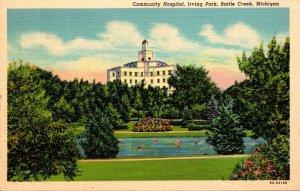 Massachusetts Battle Creek Irving Park Community Hospital  Curteich