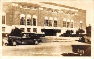 F27/ Brownwood Texas RPPC Postcard c1940s Memorial Hall Automobile