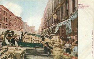 Chicago Illinois South Water Street Hammon #508 C-1910 Postcard 21-10606