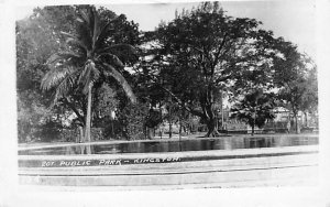 Jamaica, Jamaique Post card Old Vintage Antique Postcard Public Park Kingston...