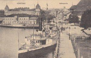 Germany Konstanz Hafenpartie Harbor Scene With Steamer sk4148