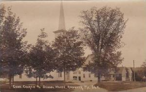 Maine Andover Congregational Church & School House Real Photo RPPC