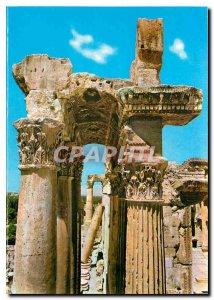 Postcard Modern Lebanon Detail of the Temple of Bacchus Columns
